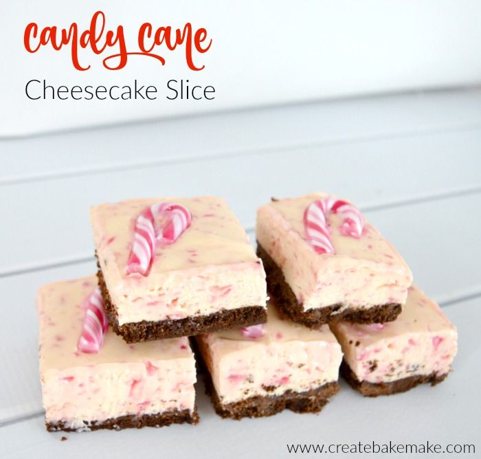 Candy Cane Cheesecake Slice 1