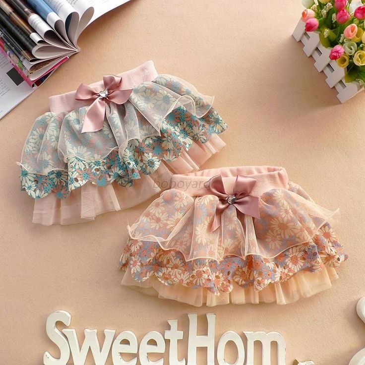 2-6Y Cute Baby Kids Girl Bow Floral Pompon Layered Skirt Floral Tulle Tutu Dress #Unbrand #Everyday