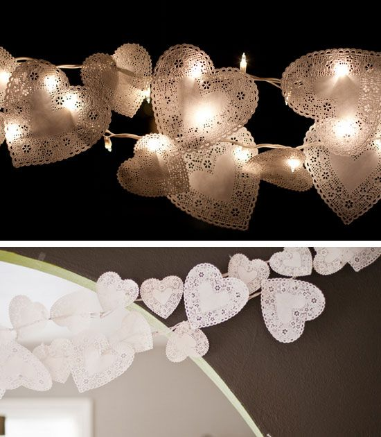 Doily String Lights | 25 DIY Winter Wedding Ideas on a Budget | DIY Winter Wedding Decorations