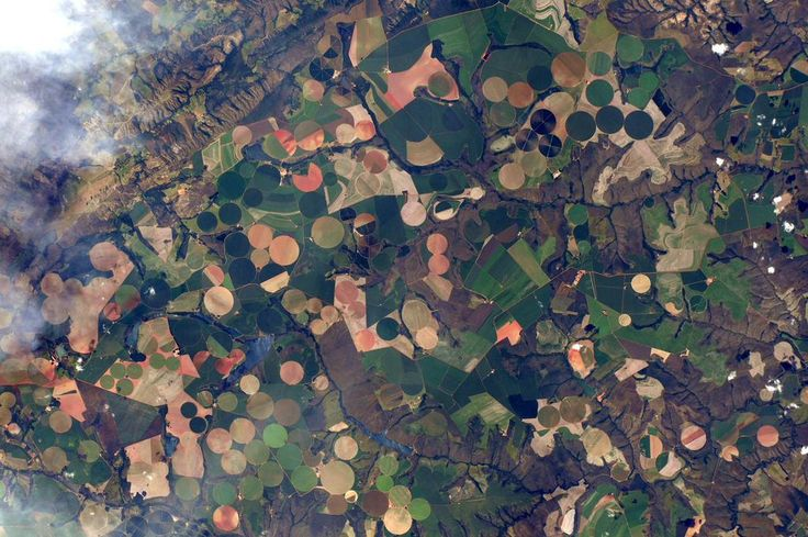 Or these... other side of the planet, very different landscape, same cheerful irrigation circles! #HelloEarth