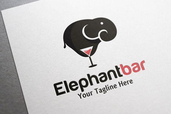 Elephant Bar Logo by gunaonedesign on Creative Market