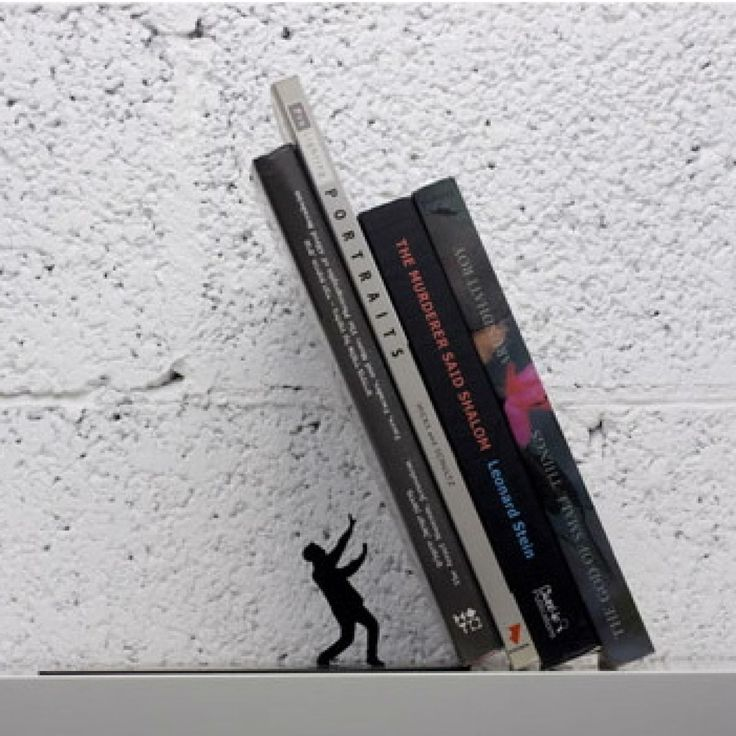 Book Stand Metal Original Gift idea Desing Falling Bookend Magic Illusion Shelf