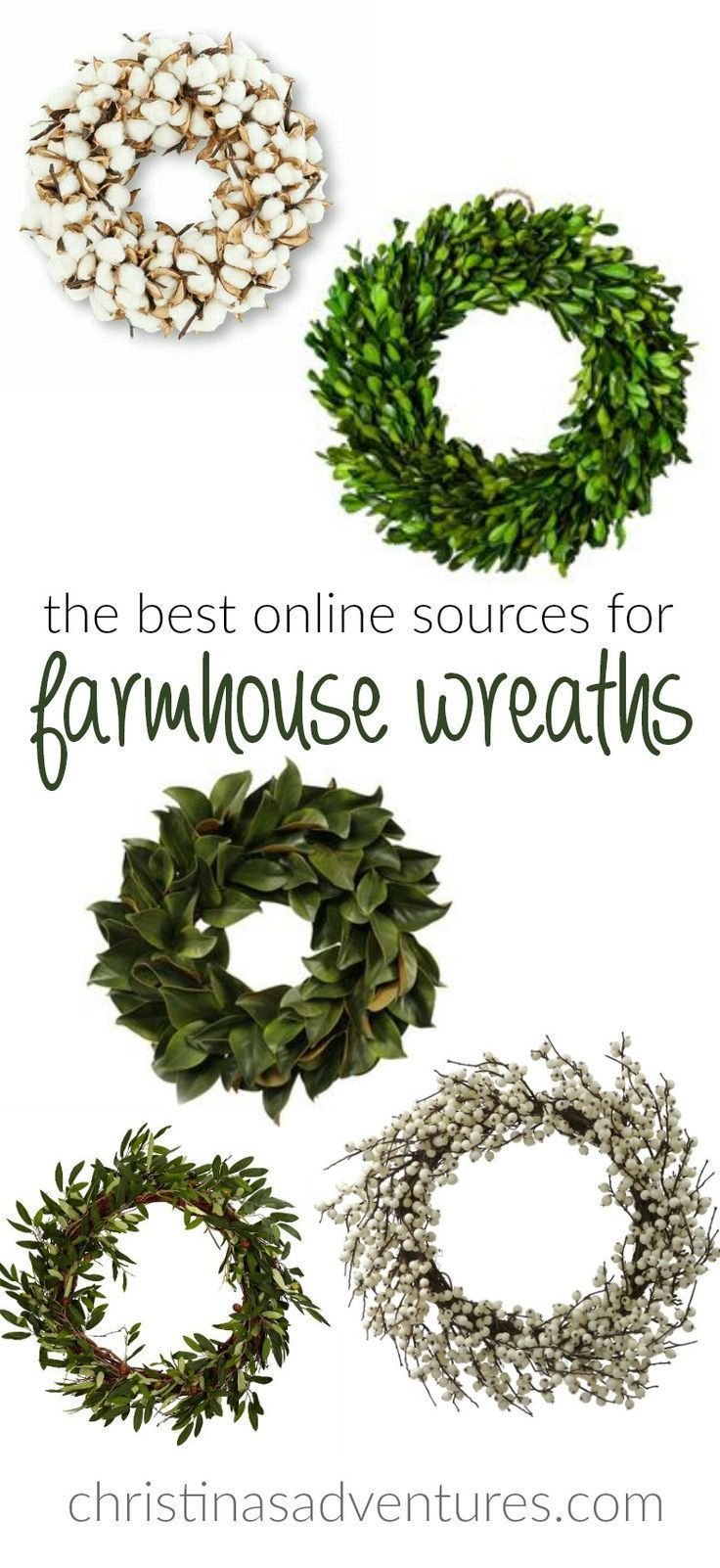 If you're fixer upper and farmhouse obsessed, you'll need some great wreaths for your home decor! Here's the best online sources for farmhouse wreaths #cheaphomedecor