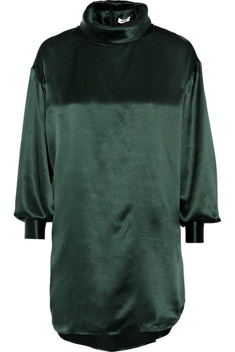 Issa Jenny oversized silk-satin blouse