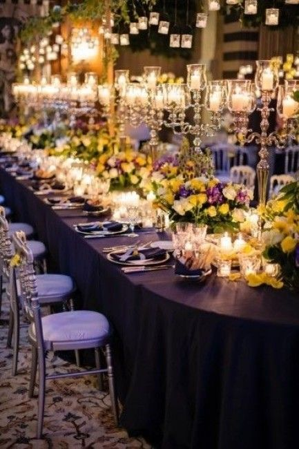 Mariage violet : la décoration