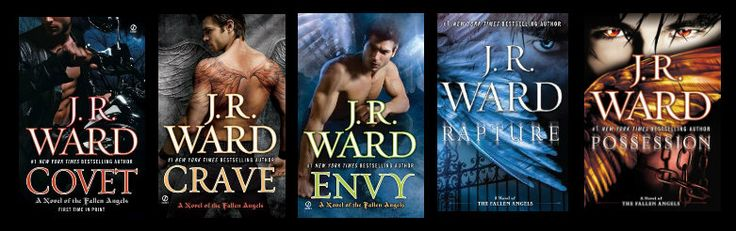 Fallen angels series by JR Ward: http://www.thereadingcafe.com/possession-fallen-angels-5-by-j-r-ward-promotion-and-giveaway/