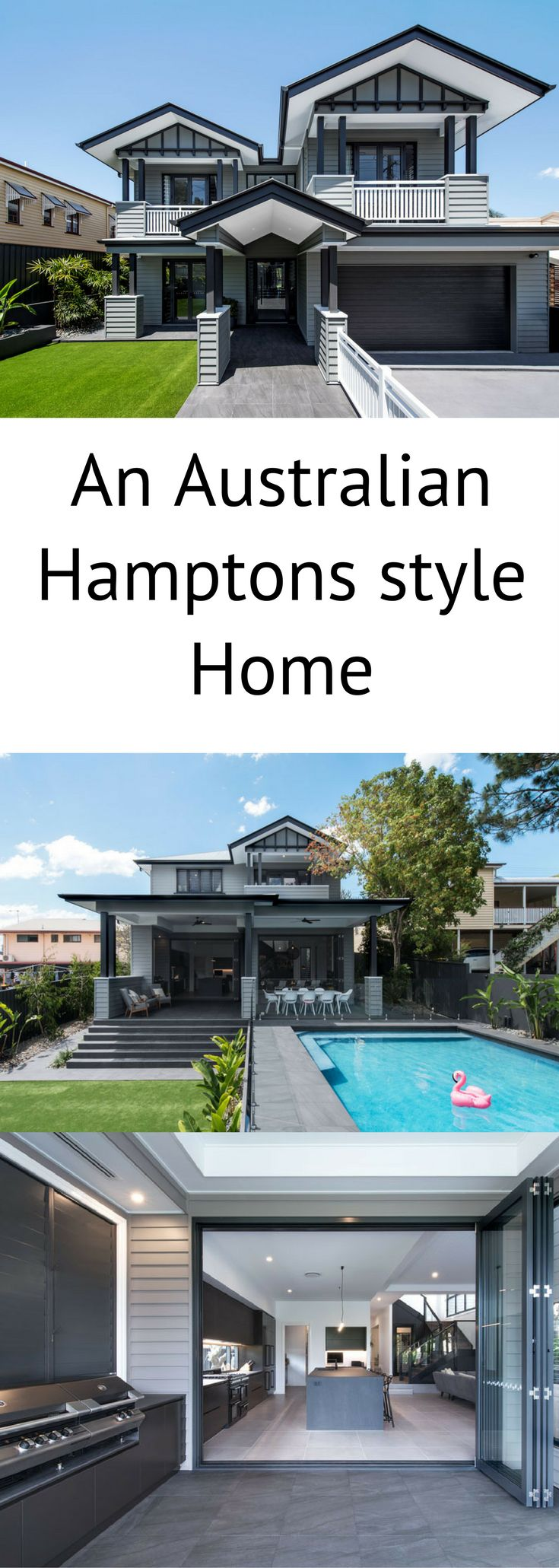 Proudly positioned in a quiet street in the riverside suburb of Bulimba, this two-storey family home utilises modern fibre cement cladding to achieve a Hamptons look with an Australian twist.