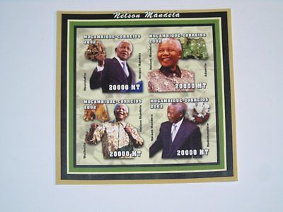 Stamp Pickers Mozambique 2002 Nelson Mandela Imperf S/S MNH Sc #1605 $21+