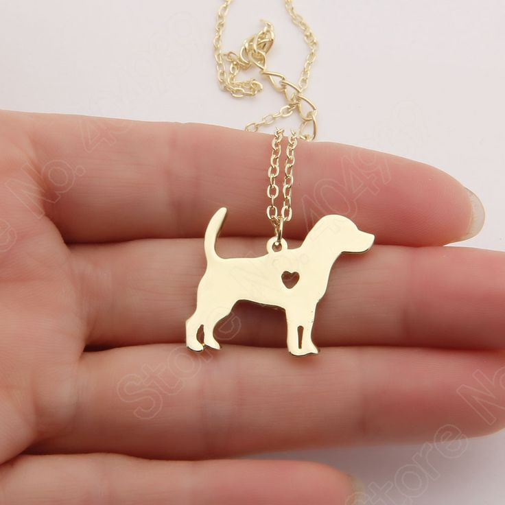 Beagle Ketting Kous Stuffer Hanger Puppy Hart Hond Minnaar Gedenkteken Huisdier Kettingen Kerstcadeau Loodvrij