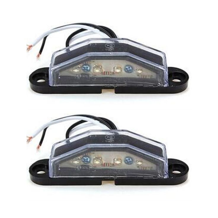 2pcs/set LED Number Plate Light Truck UTE Trailer Plate Light with 4pcs High Brightness LEDs for 10-30 Volt Vehicle. Yesterday's price: US $9.79 (8.27 EUR). Today's price: US $7.93 (6.56 EUR). Discount: 19%.