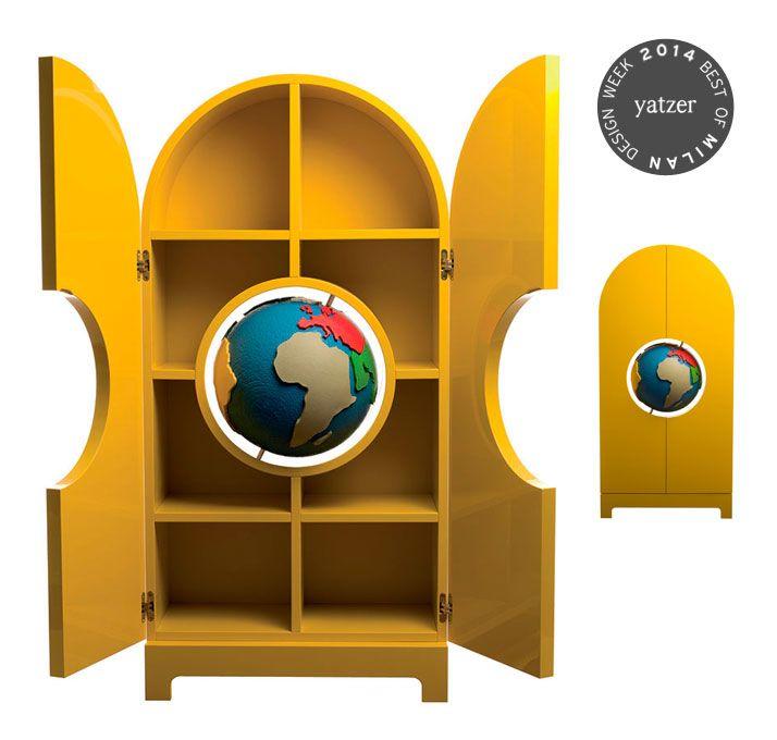 The Globe Storage Cabinet by Studio Job for Gufram. http://www.yatzer.com/best-of-milan-design-week-2014
