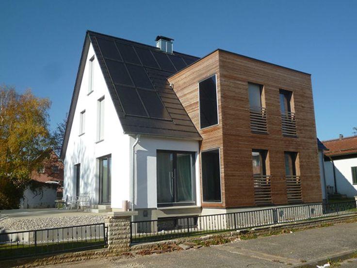 Marvelous Einfamilienhaus Modern Holzhaus Satteldach Flachdach Mit Gaube Holzfassade  Modern Eckfenster | Efficiento® Holzhäuser | Pinterest | House, Small  Modern ...