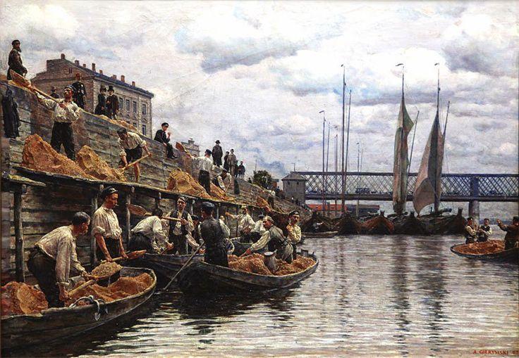 A.Gierymski  (1850-1901) 🇵🇱🎨  Piaskarze  1887