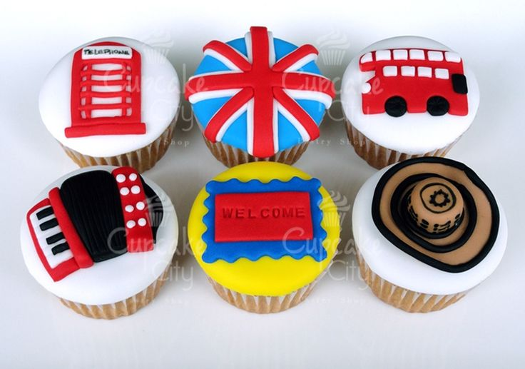 Colombian & England Cupcakes