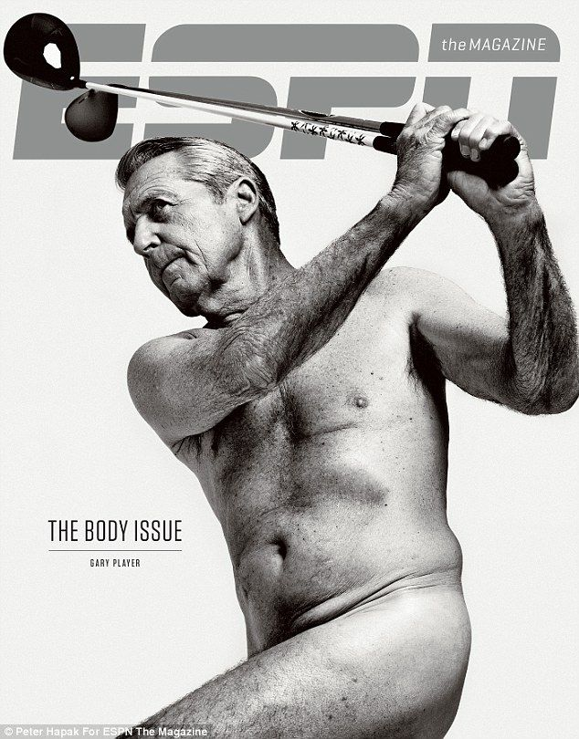 Gary Player poses for the cover of the fifth Body Issue of ESPN's The Magazine.