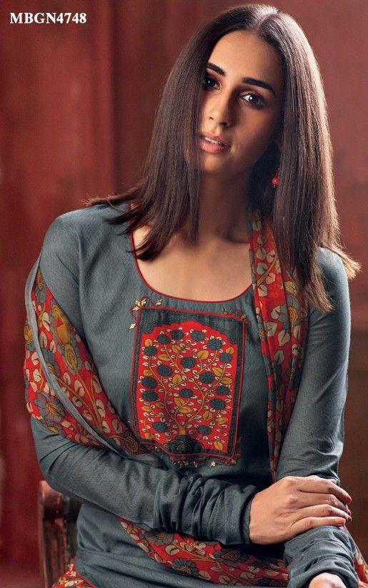 fdadc4792 Grey Applique Work Suit Set Online Shopping For Ethnic Wear  Buy Designer  Sarees