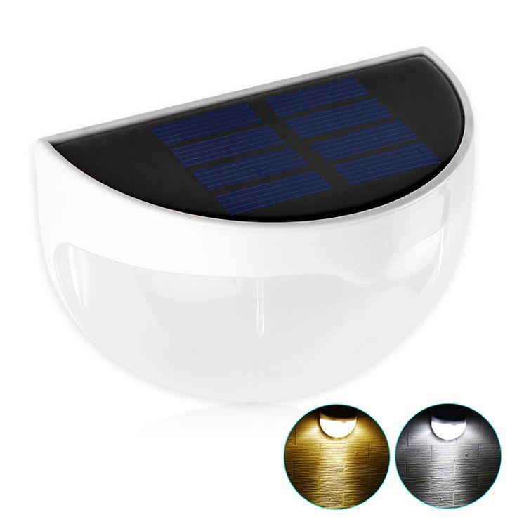 Impermeable IP55 LLEVÓ Jardín Lámpara Solar LED Solar Lámpara de Pared Moderna Para La Decoración Del Jardín Luz Solar Al Aire Libre