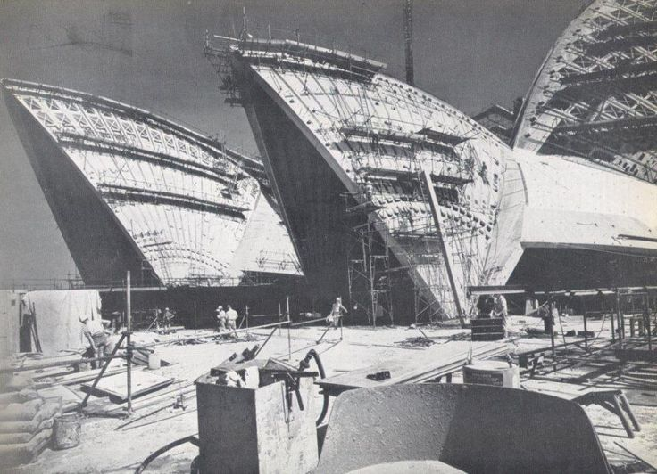 Sydney Opera House, March 1966 / Jorn Utzon