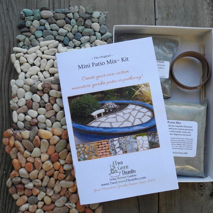miniature garden patio sampler kit for realistic mini patios or paths mini patio mix