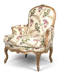A LOUIS XV BEECHWOOD BERGERE. Victorian FurnitureFrench ...