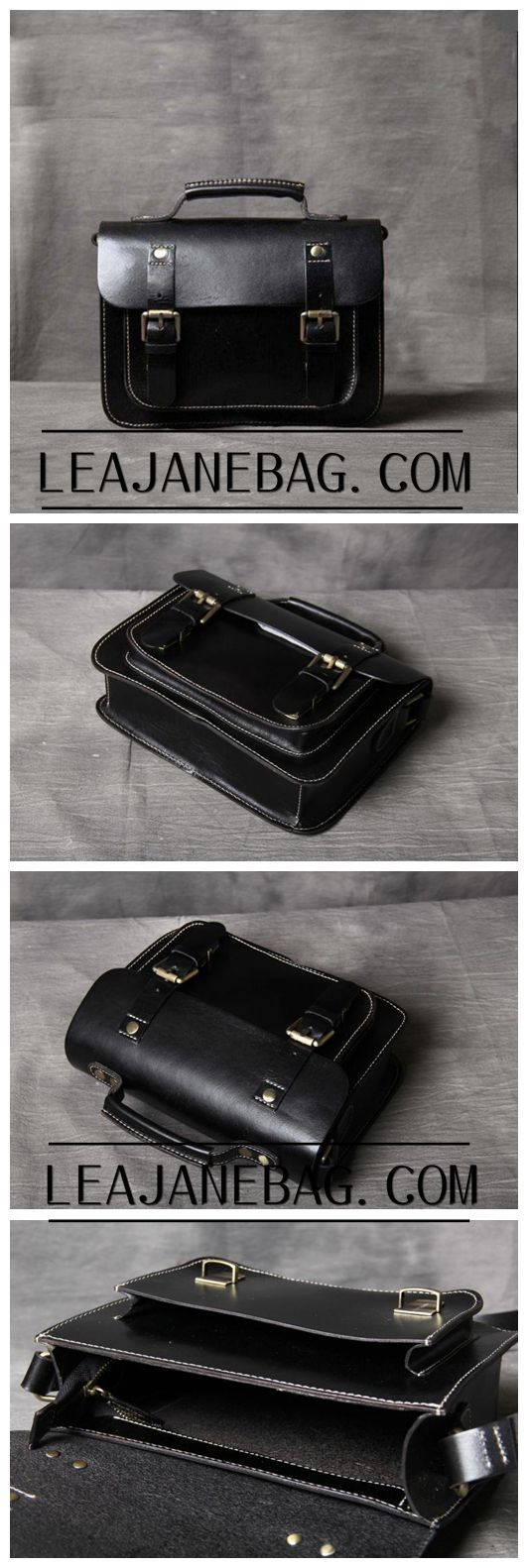 Leather Messenger Bag, Leather Briefcase, Handmade Cross-body Bag, Leather Tote Bag OAK-013
