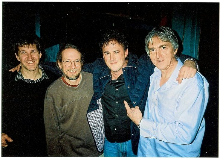 Photograph of Eric Keyes with Allan Holdsworth 2007 (Chad Wackerman, Jimmy Johnson, Eric Keyes and Allan Holdsworth)