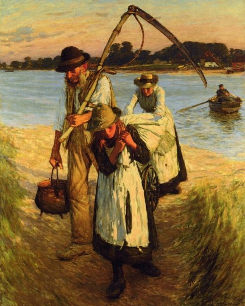 Travelling Harvesters - Henry Herbert La Thangue