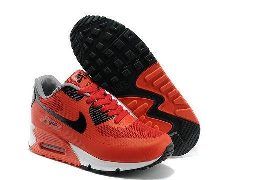 meilleur service 1e5f6 f3bfe Nike Air Max 90 Hyperfuse Homme Rouge Noir Blanc Pas Cher ...