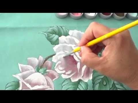 Rosa Escura em Tecido (Aula 31) - YouTube