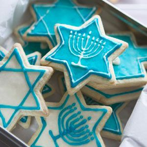 Hannukah themed frosted sugar cookies from some of our amazing caterers.  www.charmcityconcierge.com