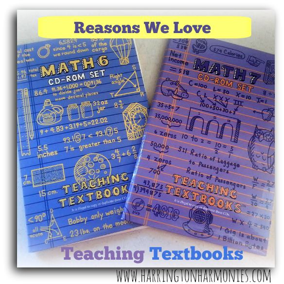 Teaching Textbooks works very well for us and here are the reasons why we love using it. | Harrington Harmonies #homeschool #math