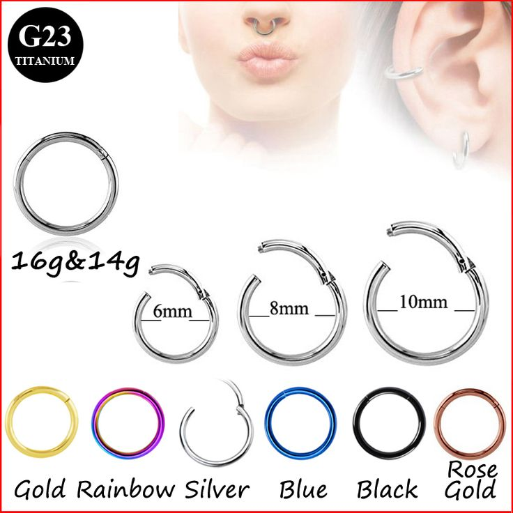 G23 Titanium Hinged Segment Ring 16g 14g Nose Lip Nipple Septum Cartilage Nipple Tragus Clicker Captive Body Piercing Jewelry