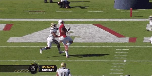 w-o-w!  college football one-handed catch   ... one-handed-touchdown-catch-against-ucla - best college football gifs
