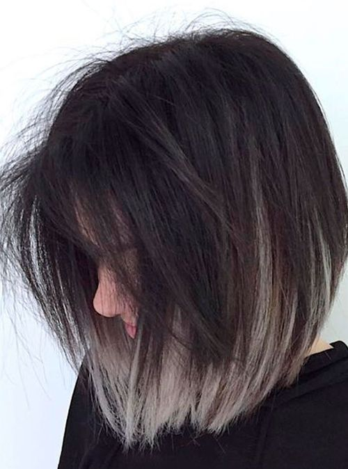 Marvelous Grey Ombre Shoulder Length Hairstyles 2018 To Look