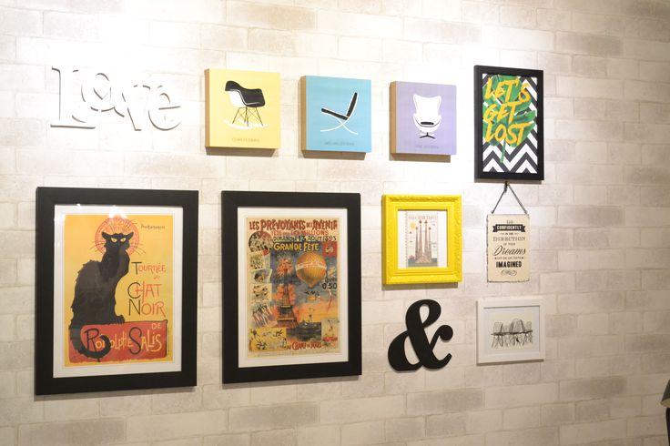 Quadros escritório blog Casa das Amigas