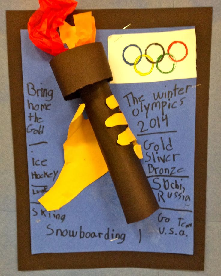 3D Olympic Torch. Great activity for the Summer Olympics.