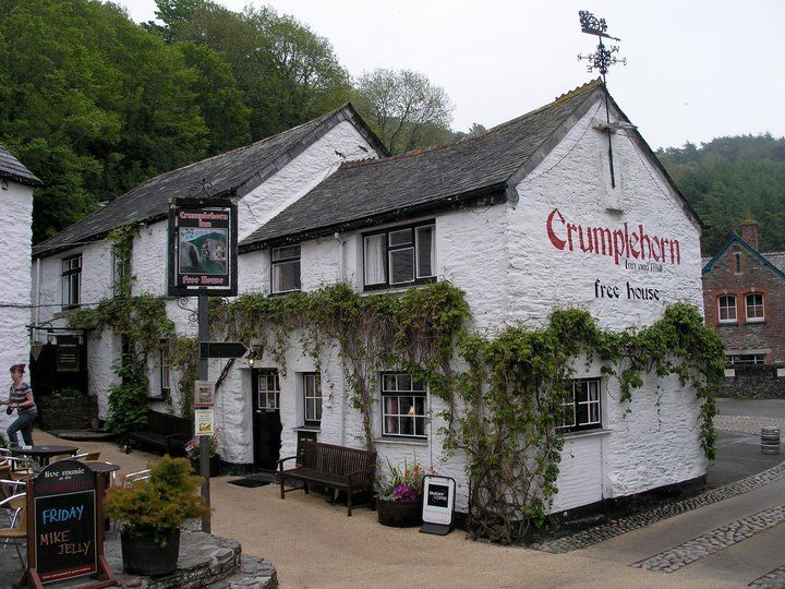 Crumplehorn Inn, Polperro - Cornwall  This was the original manor house of Killigarth where my relatives, the Grenvilles and John Bevill lived when he was sheriff of Polperro.