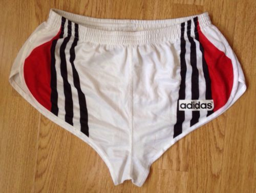 VINTAGE ADIDAS SPRINTER RUNNING SHORTS HIGH CUT RARE 80s