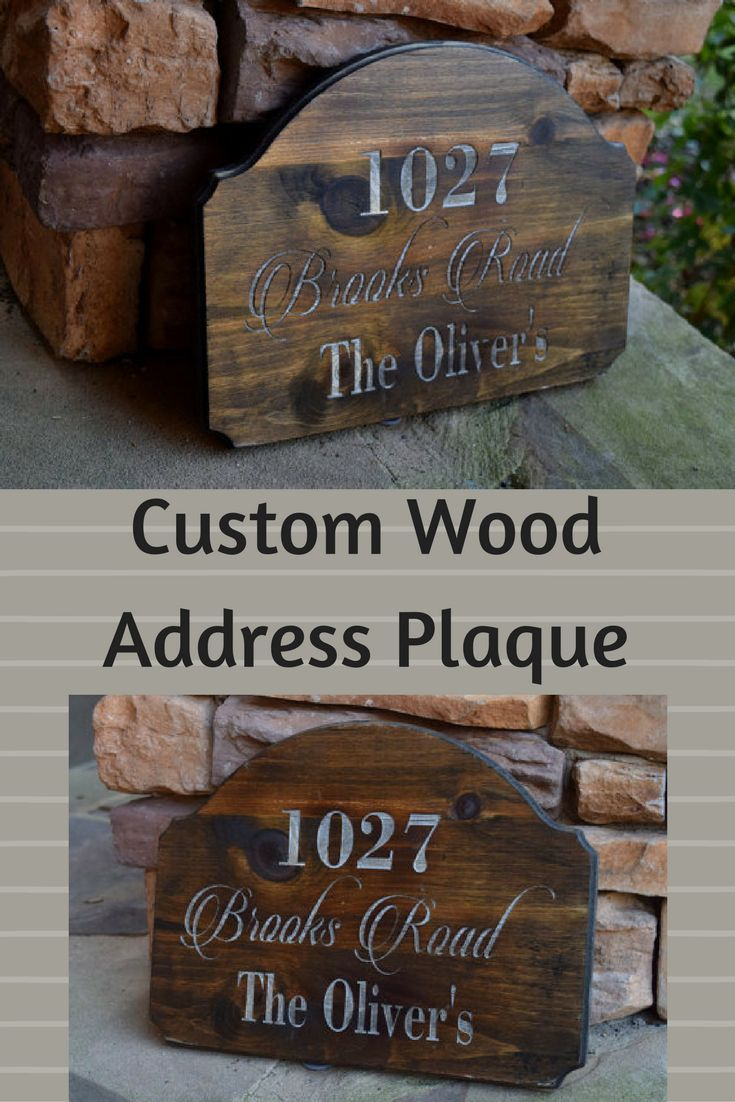 Family Established Sign Address Plaque Outdoor Address Sign Address Sign Engraved Address Rustic Home Decor Personalized Gift