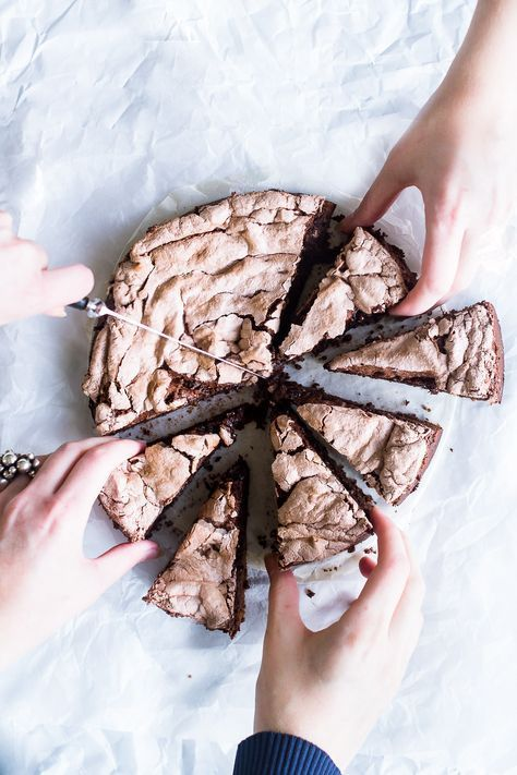 Chocolate cake with meringue