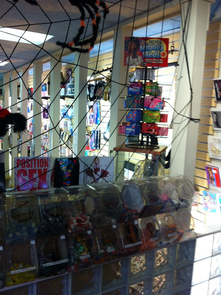 So many sections of our store - lots of adult novelties