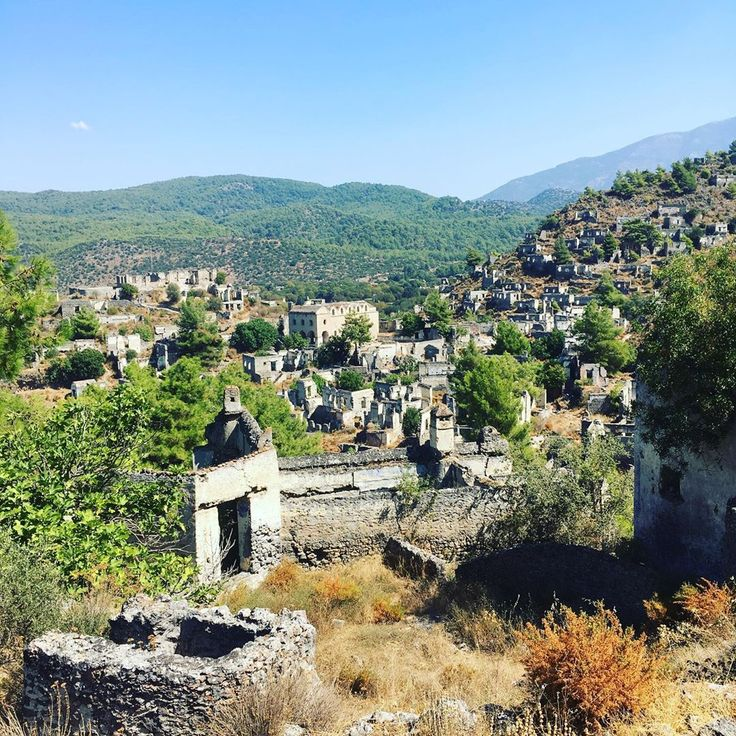 The Ghost Town #Kayakoy Village In #Turkey Stretches Along