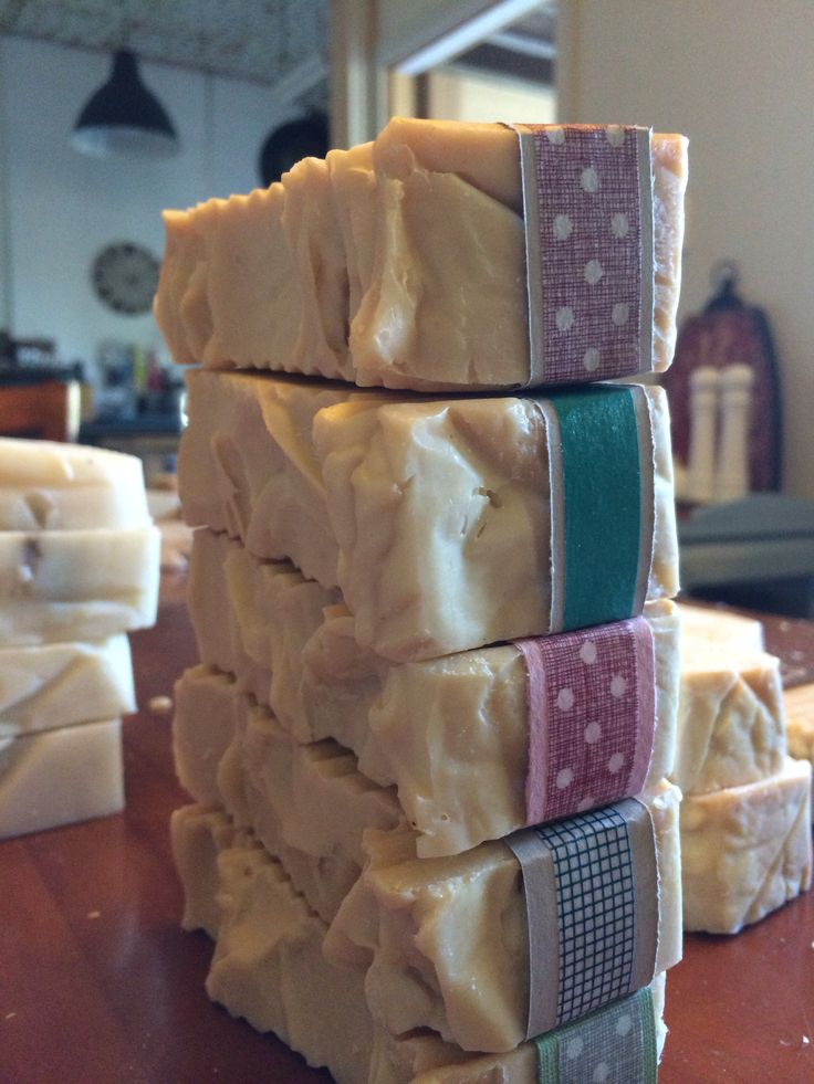 Handmade soap made with raw cows milk www.facebook.com/FromPaddockToPotager