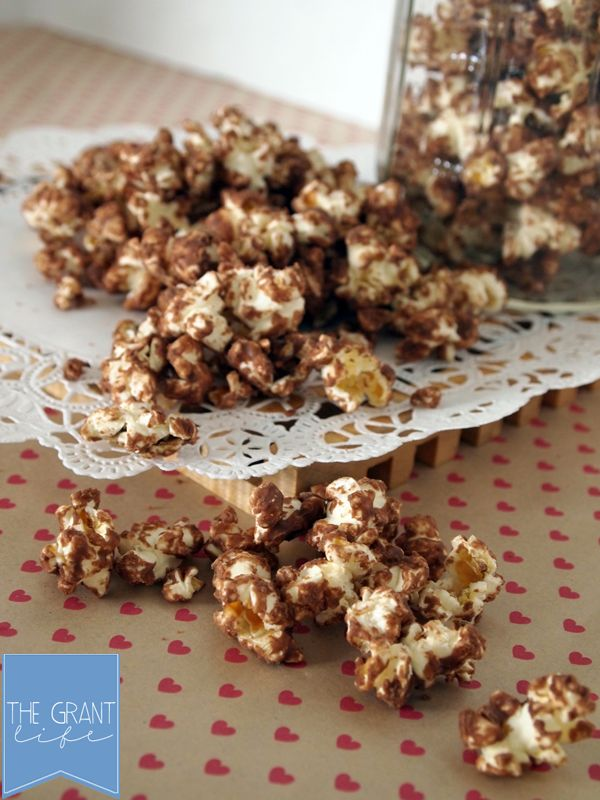 Reese's peanut buttercup popcorn - Super yummy, keep stirring while it cools so it does not become one mass. Was suggested by Geek to cover in powdered sugar i.e. muddy buddy popcorn