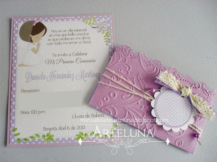 Como hacer tarjetas de invitaci nes para primera comuni n - Como hacer tarjetas para comunion ...