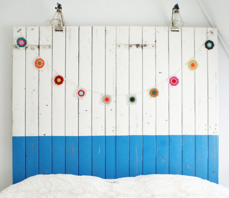 Wood and Wool garland, Remodelista