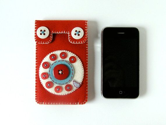 Japan Relief Phone iPhone case No.58 red/smoky turquoise por hine