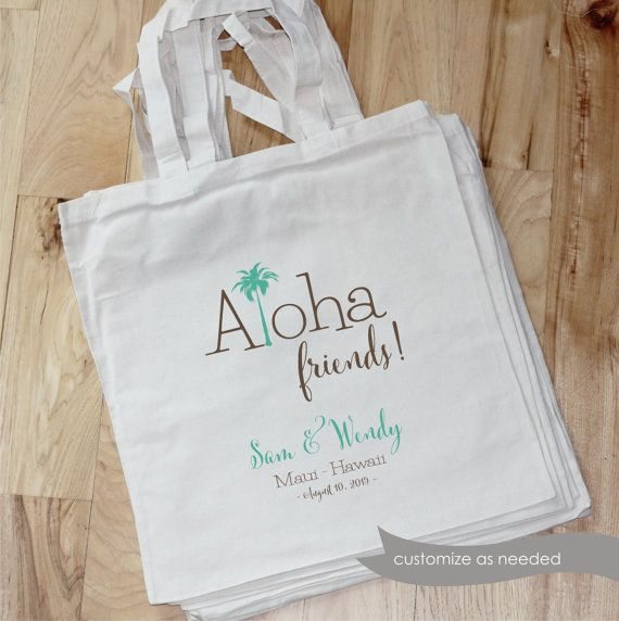 HAWAII Destination Wedding Bag  ALOHA by foryourlittlemonkey