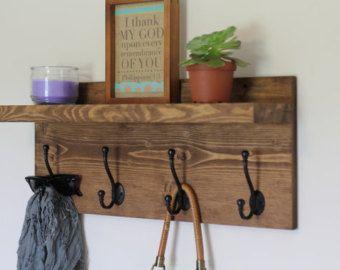 Capa estante muebles de madera rústicos al aire por NCRusticdesigns