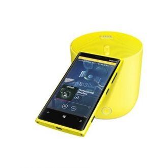Przenośny głosnik JBL PlayUp Nokia z bezprzewodowym ładowaniem telefonu Wspaniałe kolory, przenośność i wysokiej jakości dźwięki, także basy. Współtworzony z firmą JBL w celu zapewnienia wyraźnego dźwięku i wszechstronnej kompatybilności z obsługą wszystkich telefonów za pośrednictwem komunikacji Bluetooth.